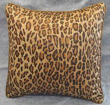 Pillow made w Ralph Lauren Venetian Court Leopard Sateen Fabric / cording  18x18
