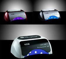 Lampada UV CCFL 48W LED fornetto ricostruzione unghie gel tips colata acrilico