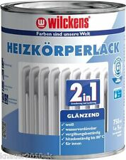 Wilckens 2in1 Heizkörperlack weiß glänzend  750 ml
