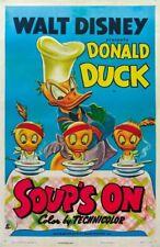 Soup's On (1948) Donald Duck Disney movie cartoon poster print