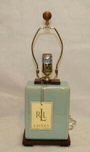 Ralph Lauren Light Mint Green Crackle Finish Porcelain Table Lamp NO Shade New