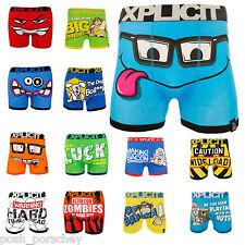 Mens Boys Xplicit Designer Novelty Rude Boxer Trunks Shorts Underwear Funny Gift