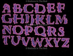 Large Floral Pattern Alphabet Metal Cutting Dies Set, Card Making *UK SELLER* H0