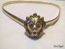 """28"""" Gold Steel Lion Head Belt"""