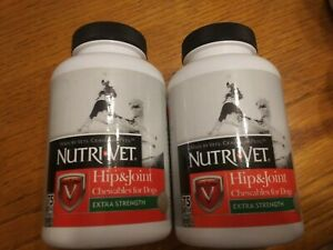 Nutri-Vet Hip & Joint EXTRA STRENGTH for Dogs Chewables 75ct x2