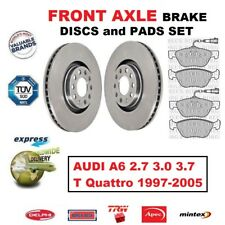 FOR AUDI A6 2.7 3.0 3.7 T Quattro 1997-2005 FRONT AXLE BRAKE PADS + DISCS 320mm