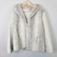 Vintage 1960's OTEX Melbourne  | Womens Faux Fur Jacket [ Size AU 12 or US 8 ]