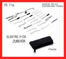 25tlg Elektro pickgun ACCESSORI LUCCHETTO PICK lockpicking Set Dietrich decifrazione porta