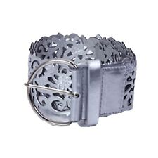 Boho Gift Waistband Unbranded Ladies Hippie Buckle Wide Hip Leather Belt Silver One Size