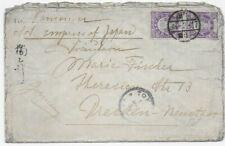 Japan 1905 - Brief Tokyo nach Dresden via Kanada