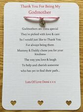 Thank You For Being My Godparents, Godmother, Godfather, Christening Card Gift