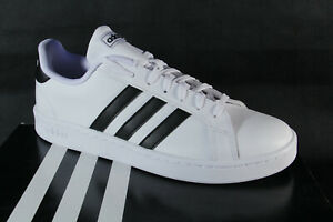Adidas Grand Court F36392 Trainers Sports Shoes White/Black New