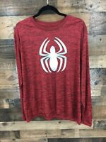 Marvel Spiderman Men's Red & Black Long Sleeve Athletic Top Size XL