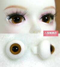 14mm  For BJD DOD AOD MK OK RD Doll Dollfie Glass Eyes Outfit brown A