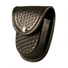 New Listingboston Leather 5514 Rounded Bottom Xl Handcuff Case Brass Snap Basket Weave