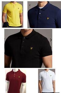 GORGEOUS LYLE AND SCOTT SHORT SLEEVE  POLO SHIRT (plain collar) FOR MEN