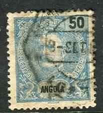 PORTUGUESE ANGOLA;  1898 early Carlos issue fine used 50r. value