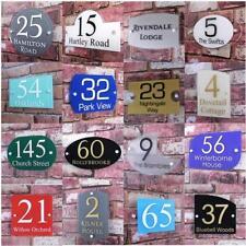 Moderne Signe Numéro De Porte Maison Rue Adresse Plaque Verre Effet Acrylique
