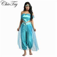 Aladin,Sexy Princess Jasmine costume, Size Small, 3 pieces for Women,Halloween