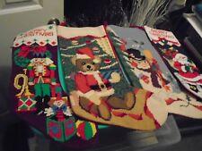 Needlepoint Christmas Stockings, Set 4