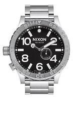 Brand New Nixon Gent's Lefty Black Dial Steel Bracelet Dive Watch A057 000