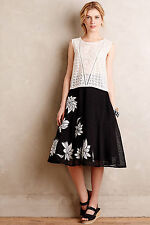 Contrabloom Skirt Floral Full Tulle By Tracy Reese Anthropologie, Size 8P Petite