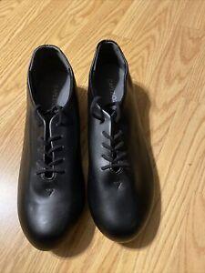 NEW Capezio 443 TeleTone Black Tapster Lace Up Tap Shoes 8.5M