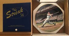 Joe DiMaggio Signed Bradford Exchange Plate limited# JSA LOA Autographed Yankees