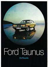 Ford Taunus 1970-71 Dutch Market Sales Brochure L XL GT GXL Coupe Wagon Cortina