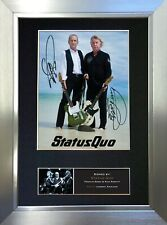 More details for status quo signed autograph mounted photo reproduction a4 print 456