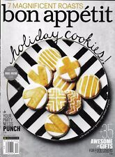 Bon Appetit magazine Holiday cookies Party punch Roasts Food lover gift ideas