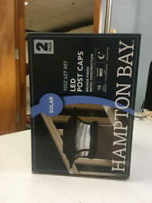 New listing Hampton Bay Solar 4 in. x 4 in. Bronze Outdoor Integrated Led Deck Post Light