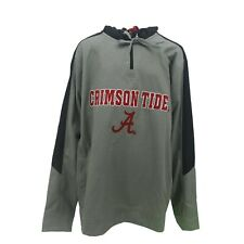 Alabama Crimson Tide Official NCAA Adult Size Hooded Quarter Zip Sweatshirt New