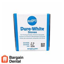 SHOFU Dura-White Aluminium Oxide Flame Dental Finishing Stones 12x FG FL2 #0244