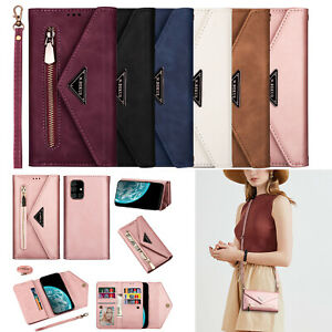 Crossbody Wallet Flip Hot New Fashion Women Leather Case Phone Cover For Samsung