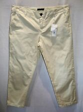 PIPER Brand Ivory Crop Trouser Pants Size 16 BNWT #SW114
