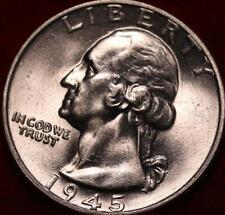 Uncirculated 1945  Philadelphia Mint Silver Washington Quarter