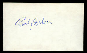 Rocky Nelson (d. 2006) signed autograph Baseball 3x5 Index Card 4023-46