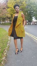 Sleeveles ladies Jacket/Ankara coat/ AFrican print  100% cotton Medium Uk 10-12