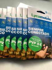 Oferta Tarjeta Sim Lycamobile PREPAGO 5€ -  1 Giga + 100 minutos internacionales