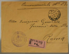 POSTA MILITARE 96 15.8.1917 BUSTA RACCOMANDATA, TIMBRO 1° REGGIMENTO GENIO#XP442