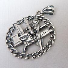 MASONIC MASON Pendant  H A N D M A D E -925 Silver.