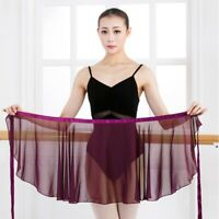 Women Girl Chiffon Ballet Wrap Skirt Scarf Leotard Tutu Dress Dance Wear Costume