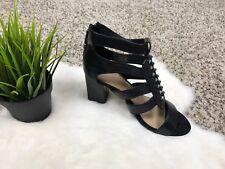 Zara Trafaluc Woman Heel Shoes Spikes Black Zip Up Sz 39 EU (US 8)