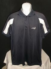 Woodworm Golf Navy Blue/White Cool Dry S/S Polo Shirt Sz. L No Logos