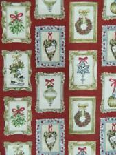 Patchwork Quilting Sewing Fabric CHRISTMAS ORNAMENTS Material 50x55cm FQ NEW