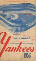 1956 baseball program Chicago White Sox @ New York Yankees Mickey Mantle HR