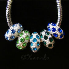 5PCs Turquoise, Green, Blue, Teal, Emerald Beads For European Charm Bracelets