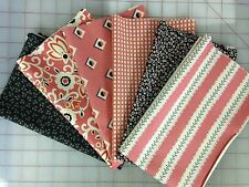 Denyse Schmidt New Bedford Fabric Fat Quarter Bundle in Coral and Charcoal