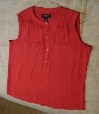 Misses Liz Claiborn Career sleeveless top  Red  size M
